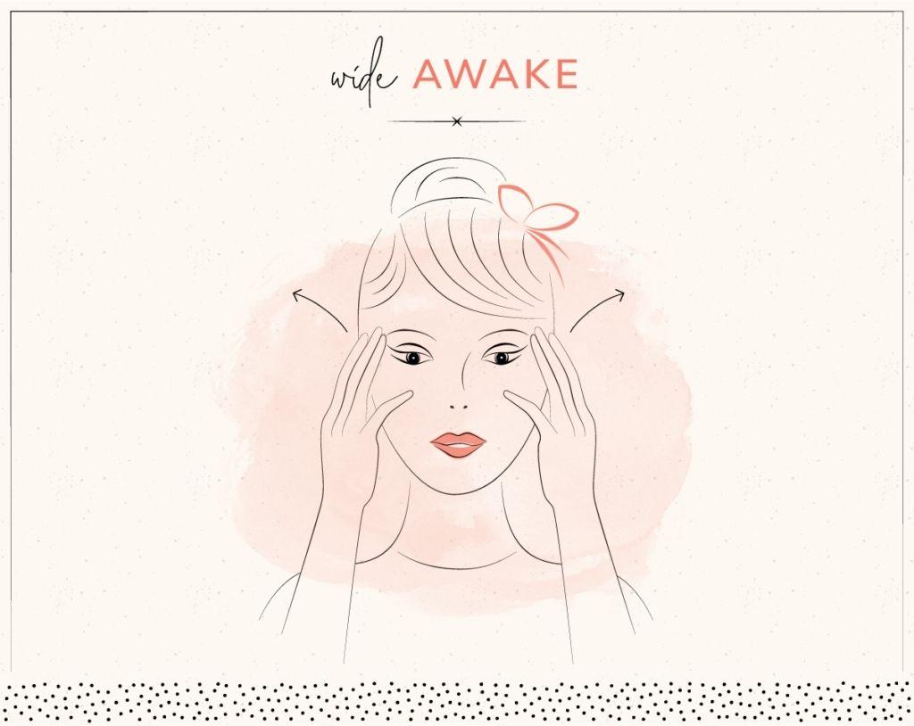 yoga trẻ hóa khuôn mặt wide awake