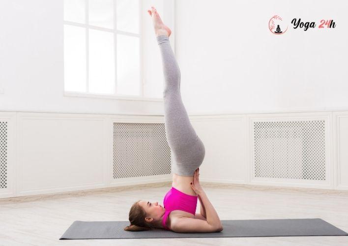 Yoga giảm cân tư thế shoulder stand