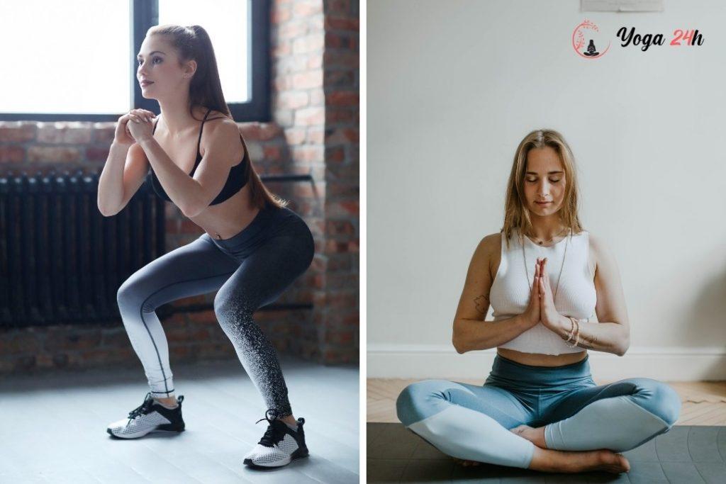 kết hợp tập Gym Và yoga