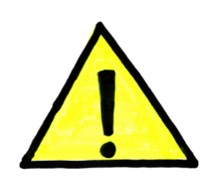 lưu ý cảnh báo icon