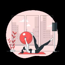 cac bai tap yoga icon pink